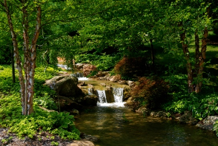double waterfall stream
