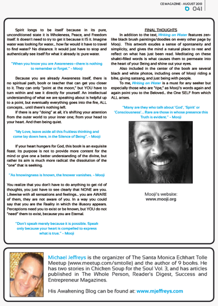Michael Jeffreys review of Mooji's Writing on Water page 2 of 2