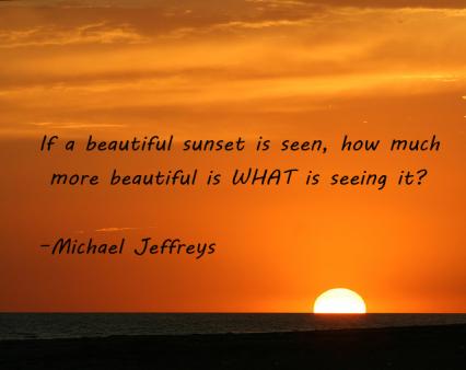 mj quote beautiful sunset
