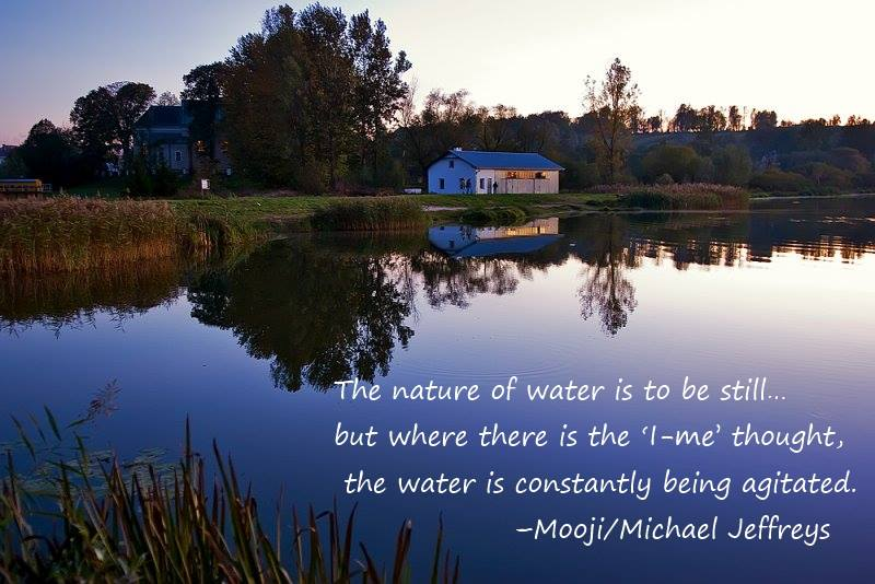 mooji michael the nature of water is to be still meditation