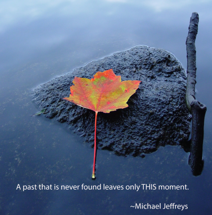 mj a past is never found leaf rock quote