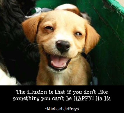 MJ quote and happy puppy