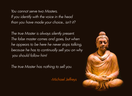 mj you cannot serve 2 masters buddha pic