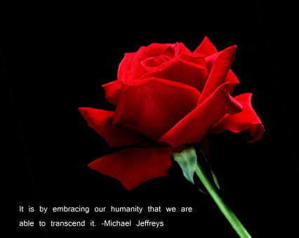 MJ embrace our humanity rose pic quote