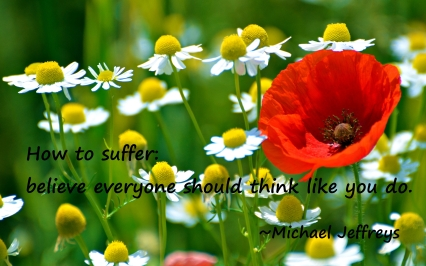MJ suffering flower quote pic