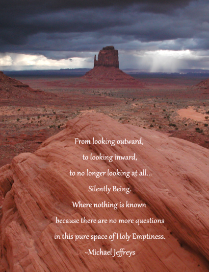 MJ canyon holy emptiness pic quote
