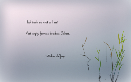 MJ I look within stillness pic quote