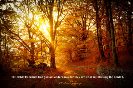 mj thoughts cannot lead you autumn trees pic quote