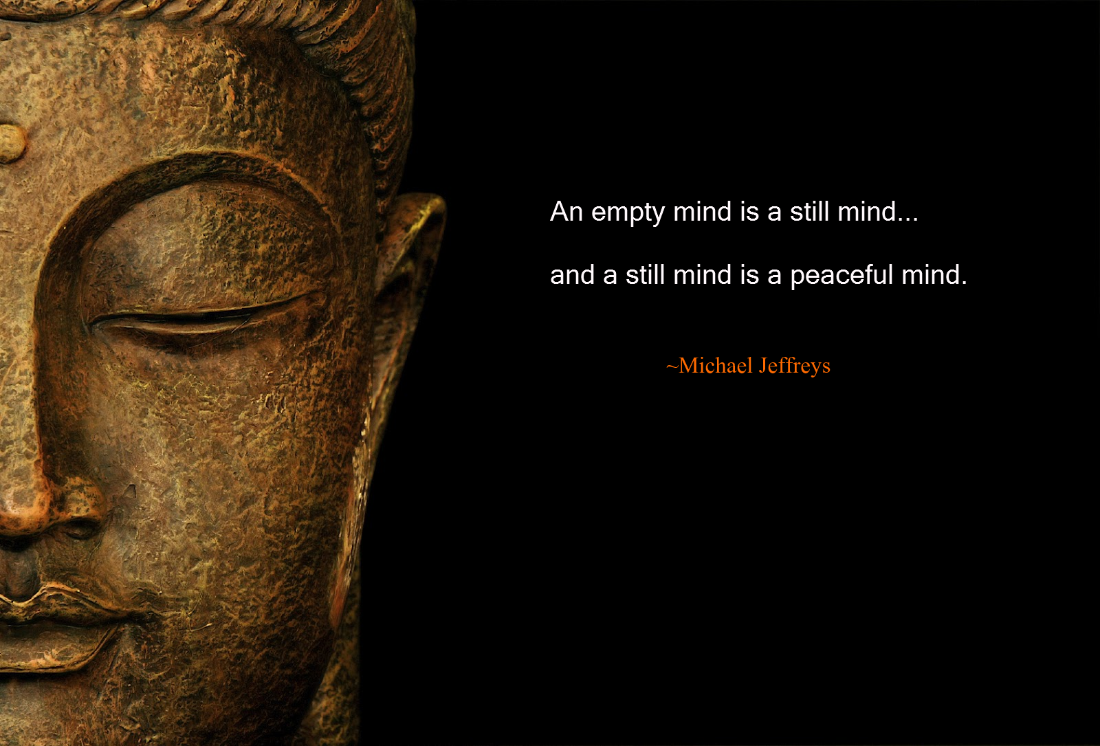 "An empty mind is a still mind…"" new MJ Awakening meditation"