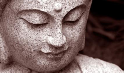 granite buddha face