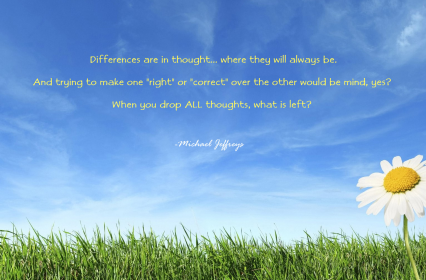 MJ drop all thoughts daisy pic quote