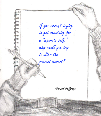 mj separate self pencil drawing pic quote