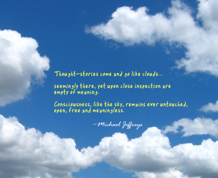 mj thoughts like empty clouds pic quote