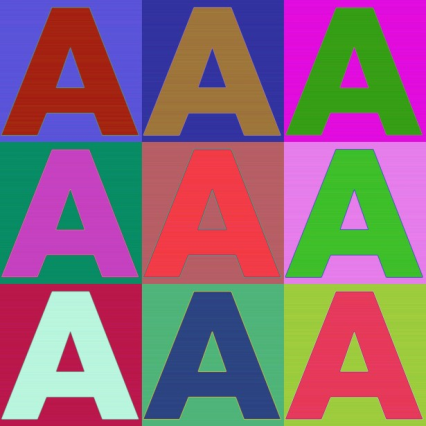 letter-a-in-colors
