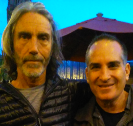 Paul Hedderman and MJ 4-30-16 Cafecito Organico, Silverlake, CA cropped