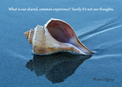 mj not our thoughts sea shell pic quote
