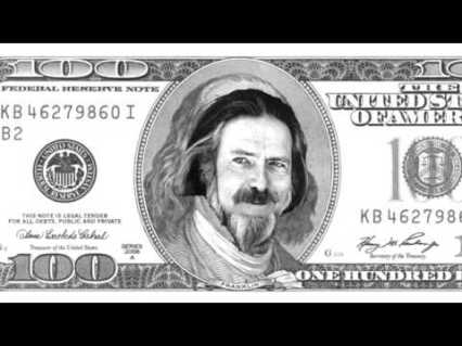 Alan watts on 100 dollar bill