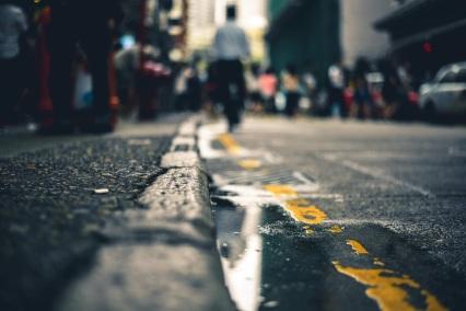 street gutter water