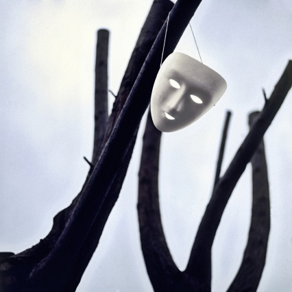 mask on tree
