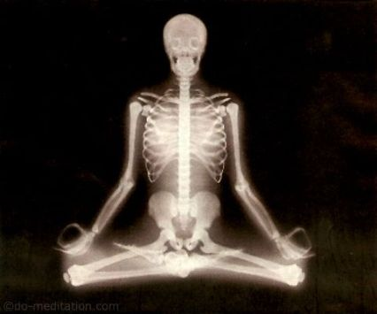 skeleton-meditating