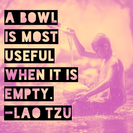 lao tzu empty bowl