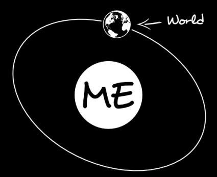 everything revolves around planet me