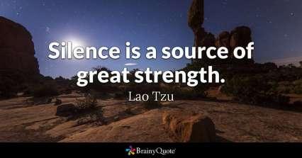 lao tzu on silence