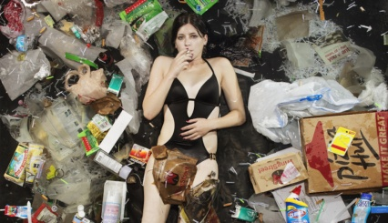 girl in garbage