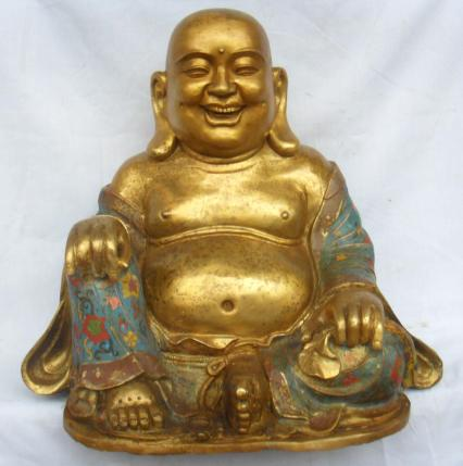 laughing golden buddha