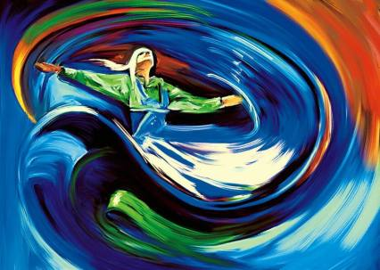 sufi dance in colors