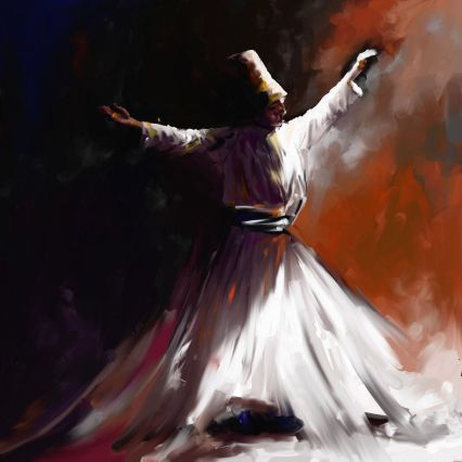 sufi oil painting