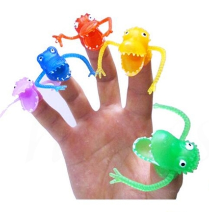 monster finger puppets, one hand