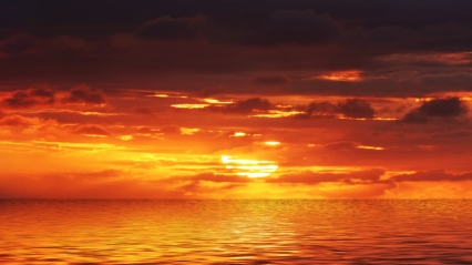 ocean orange sunset