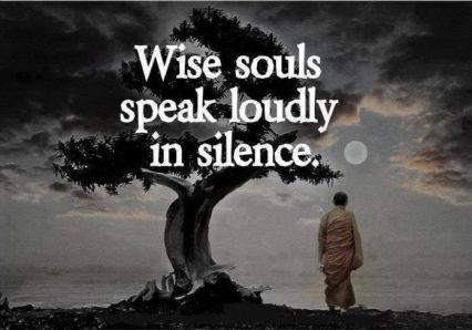 wisdom of silence