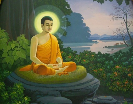 illumined buddha