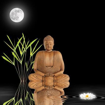 moon rice buddha