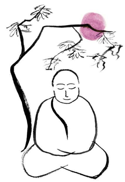 buddha meditating under tree