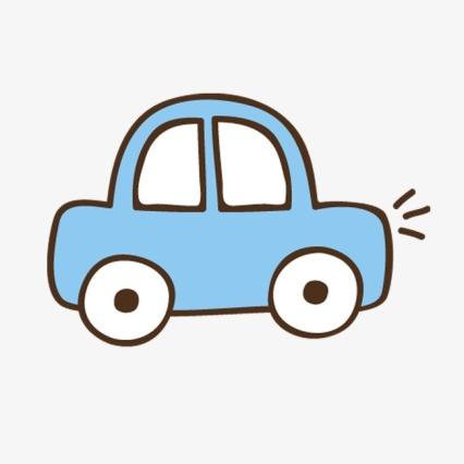 blue car cartoon