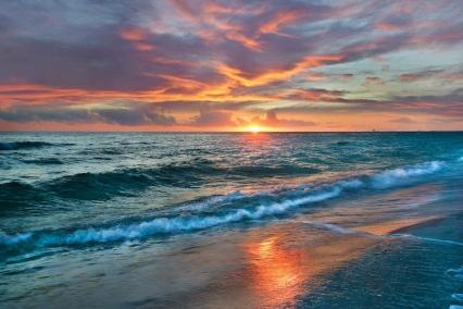 ocean sunset thy will