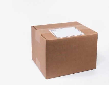 Cardboard Package and Label