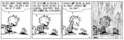 the illusion of control calvin and hobbes